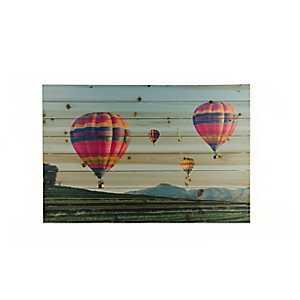 Hot Air Balloons Wood Art Print