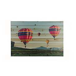 Hot Air Balloons Wood Art Print