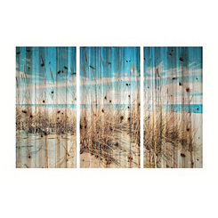 Sand Dunes Triptych Wood Art Print
