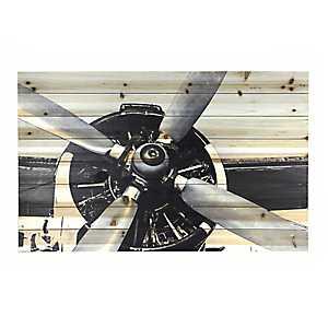 Close Up Airplane Wood Art Print