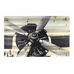 Close Up Airplane Wood Art Print