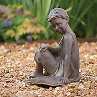 Boy Reading Garden Statue