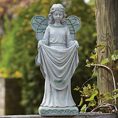 Irish Angel Solar Statue