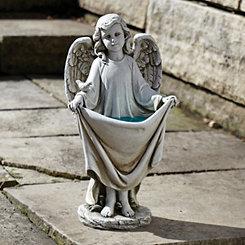 Holding Angel Solar Statue