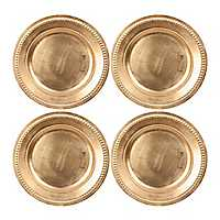 Gold Dot Chargers, Set of 4