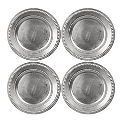 Silver Dot Chargers, Set of 4