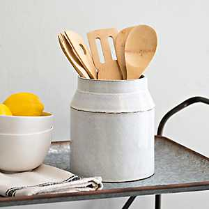 Large Cream Utensil Holder