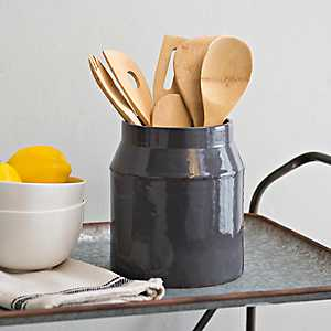 Large Gray Utensil Holder