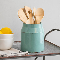 Large Aqua Utensil Holder