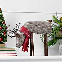 Knit Brown Reindeer with Head Down