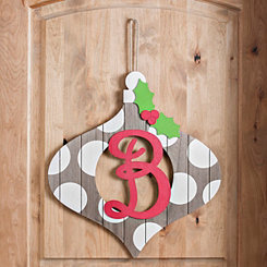 Christmas Monogram B Ornament Plaque