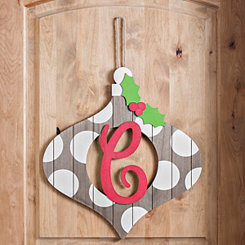 Christmas Monogram C Ornament Plaque