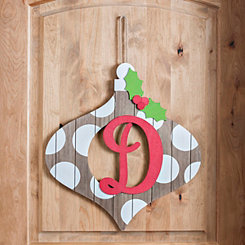 Christmas Monogram D Ornament Plaque