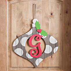 Christmas Monogram G Ornament Plaque