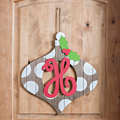 Christmas Monogram H Ornament Plaque
