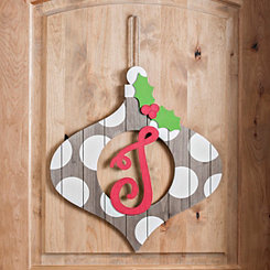 Christmas Monogram J Ornament Plaque