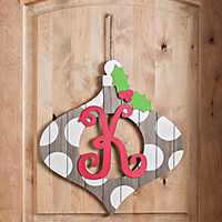 WChristmas Monogram Ornament Plaque