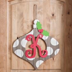 Christmas Monogram Ornament Plaques