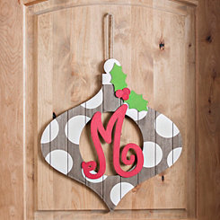 Christmas Monogram M Ornament Plaque