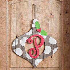 Christmas Monogram P Ornament Plaque
