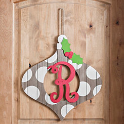 Christmas Monogram R Ornament Plaque