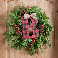 Buffalo Check Monogram B Christmas Letter