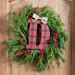 Buffalo Check Monogram D Christmas Letter