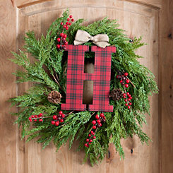 Buffalo Check Monogram H Christmas Letter