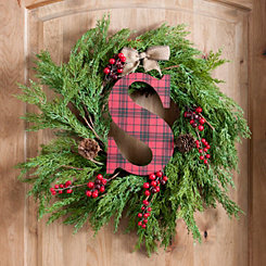 Buffalo Check Monogram S Christmas Letter
