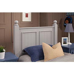 Winter Gray Twin Poster Panel Headboard