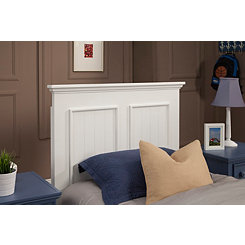 Bright White Twin Panel Headboard