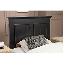 Ebony Black Twin Panel Headboard