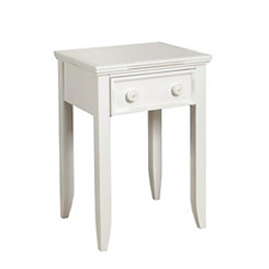 Bright White 1-Drawer Night Stand