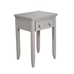 Winter Gray 1-Drawer Night Stand