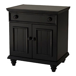 Ebony Black 2-Door Cabinet