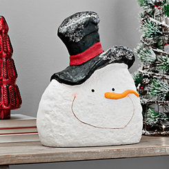 Black Top Hat Pulp Paper Snowman Head