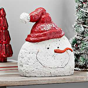 Red Santa Hat Pulp Paper Snowman Head