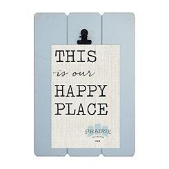 Aqua Prairie Clip Frame, 4x6