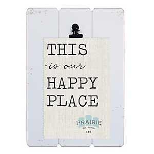 White Prairie Clip Frame, 4x6