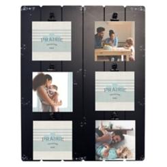 Black Prairie 6-Opening Collage Clip Frame