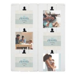 White Prairie 6-Opening Collage Clip Frame