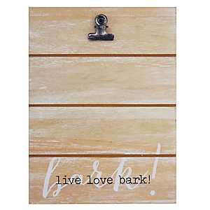 Live Love Bark Shiplap Clip Frame, 4x6