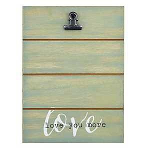 Love You More Shiplap Clip Frame, 4x6