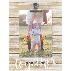 Together You & Me Shiplap Clip Frame, 4x6