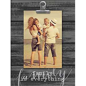 Family Is Everything Shiplap Clip Frame, 4x6