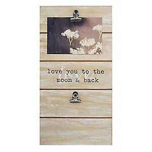 Love You To The Moon Collage Clip Frame