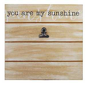 You Are My Sunshine Shiplap Clip Frame, 4x6
