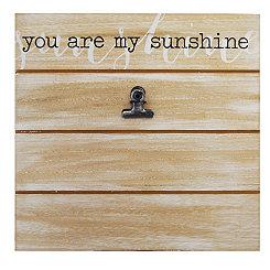 You Are My Sunshine Shiplap Clip Frame, 4x6