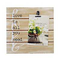 Love Is All You Need Shiplap Clip Frame, 4x6