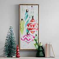 Colorful Ornaments Framed Canvas Art Print